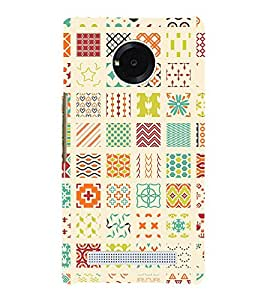 Muli Shape Pattern 3D Hard Polycarbonate Designer Back Case Cover for YU Yunique