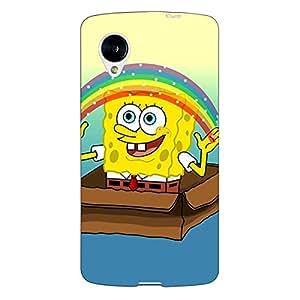 Jugaaduu Spongebob Back Cover Case For Google Nexus 5