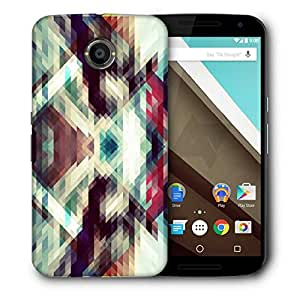 Snoogg Triangle Mosaic Abstract Designer Protective Phone Back Case Cover For Motorola Nexus 6