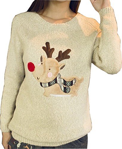 Women's Reindeer Christmas Sweater