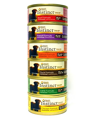 Nature's Variety Instinct Wet Dog Food Variety Pack - 6 Flavors (Beef, Lamb, Rabbit, Chicken, Salmon, & Duck)- 5.5 Oz Each (12 Total Cans) (Instinct Canned Chicken Dog Food compare prices)
