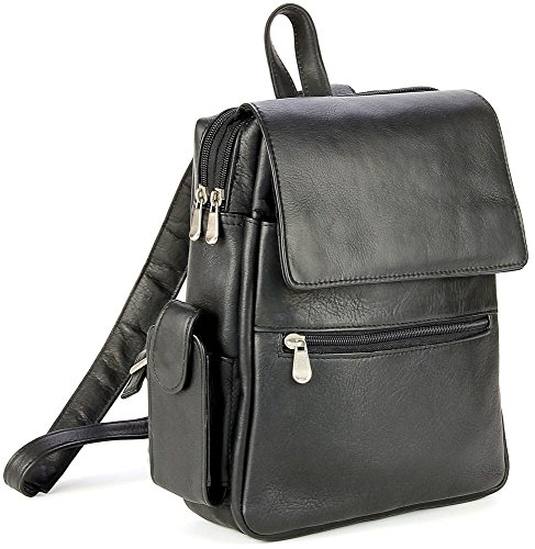 B005HSGI56 Le Donne Leather Ladies Tech Friendly Backpack (Black)