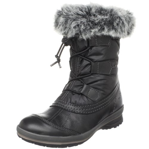 Bos & Co Women's Marco Faux Fur Trim Boot,Black,42 M EU / 11 B(M)
