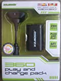 KMD Xbox 360 Komodo Play and Charge Pack Black