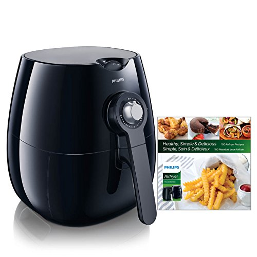 Philips HD9220/28 The Original Air Fryer with Rapid Air Technology with 150 Recipe Cook Book Gift Set, Black