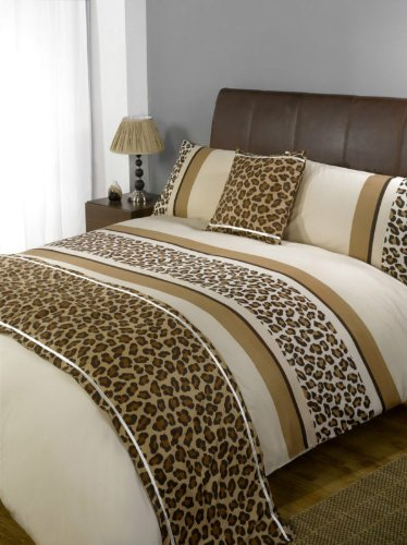Leopard Chocolate Bed In A Bag Bedding Set, Double Bed