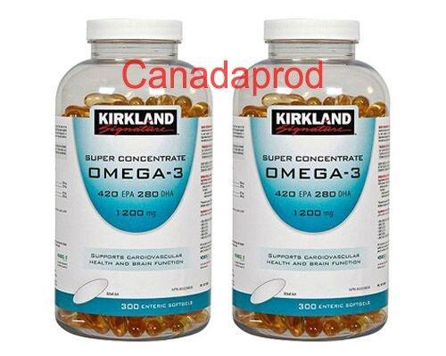 Kirkland Signature Super Concentrate Omega-3 1200mg 300softgels x 2(2 bottles) (Kirkland Omega 3 1200mg compare prices)