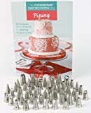 Cake Decorating Tip Set with Piping Book, Cake Decorating...