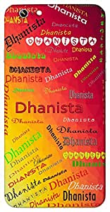 Dhanista (Name Of A Gopi Of Gukul) Name & Sign Printed All over customize & Personalized!! Protective back cover for your Smart Phone : Samsung Galaxy E-7
