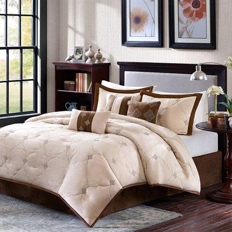 Madison Park Chelsea 7 Piece Comforter Set - Beige - King front-841485