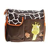 Tinksky Girafe mignon modèle multifonctions grande capacité bébé langer coussin voyage momie sac fourre-tout sac à main (Orange)...