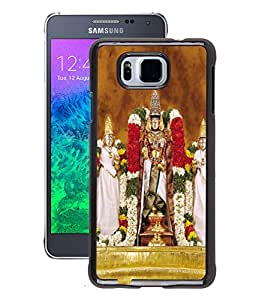 Fuson 2D Printed Lord Tirumala Tirupati Venkateswara Designer Back Case Cover for Samsung Galaxy Alpha - D684