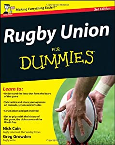 Rugby Union For Dummies Book