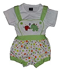 Wise Guys Cotton Printed Dungaree & T-Shirt for Baby Kids (Pack of 2) (0 to 03 Months) TOP8