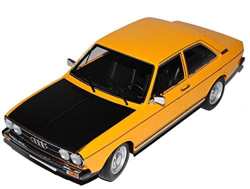 Audi-80-B1-GTE-Coupe-Orange-Gelb-mit-Schwarz-Coupe-1972-1978-limitiert-1500-Stck-118-KK-Scale-Modell-Auto