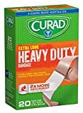 CURAD Heavy Duty Bandage Extra Long 20 Each .75 x 4.75 in ( Pack of 12)