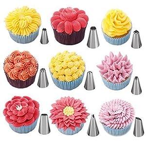 Cake Decorating Tips Supplies kit, gloednApple 16 Pcs DIY Icing Piping Bag Nozzle TipsPastry Fondant Sugar Craft Decorating Pen Set