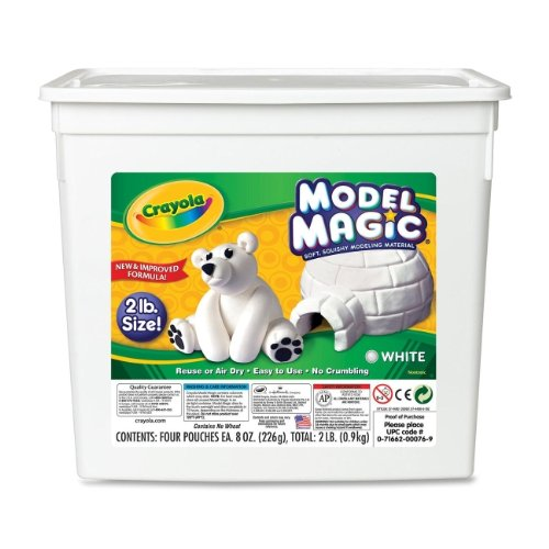 Crayola Model Magic 2lb Tub White 57-4400; 2 Items/Order