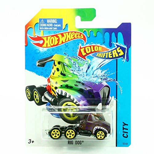 RIG DOG * COLOR SHIFTERS * 2015 Hot Wheels City Series 1:64 Scale Vehicle #10/48 (Hot Wheels Dog compare prices)