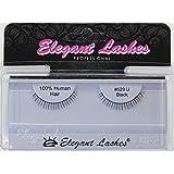 Elegant Lashes #529 Black False Eyelashes (Extra-Short 100% Human Hair Under Lashes for Bottom/Lower Lashes)