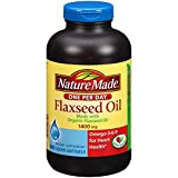 Nature Made ORGANIC Flaxseed Oil, Omega-3-6-9 for Heart Health, 1400 mg, 300 Liquid Softgels
