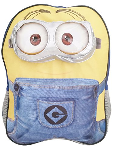 Minion-Backpack-and-Bonus-Minions-Folder-Kids-12-X-16-Inch-School-Backpack-with-5-Outer-Pockets-Despicable-Me-School-Supplies