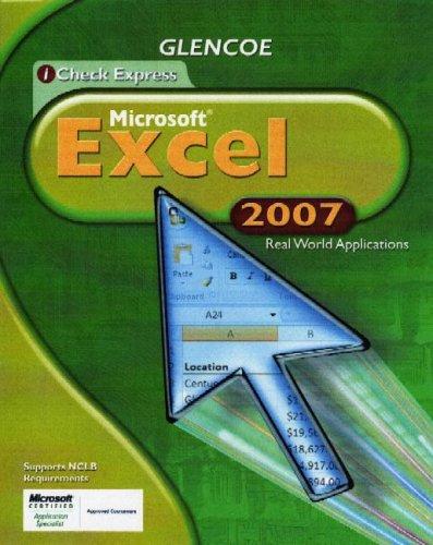 Icheck Office 2007 Excel, Student Edition (Glencoe Icheck Express)