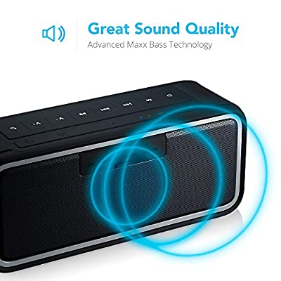 SHARKK MAKO Bluetooth Speaker 20W IP67 Submersible Waterproof Speaker with Maxbass Technology and 4400mAh Battery Pack Power Bank Perfect Speaker for Shower Beach Pool Surfing or Home