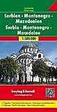 Freytag-Berndt Autokarten, Serbien - Montenegro - Mazedonien - Maßstab 1:500 000