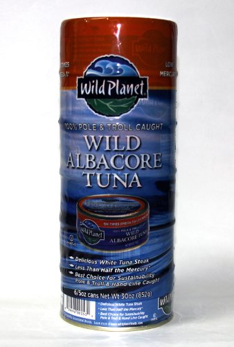 Wild Planet Wild Albacore Tuna Six 5oz. Cans (829696001005)
