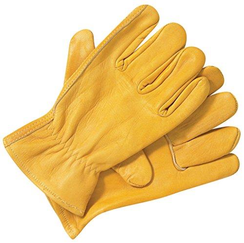 Dickies rispettive-Guanti da lavoro in pelle, colore: marrone, taglia M, L, XL Giallo giallo
