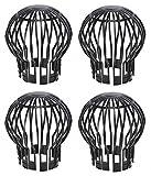 Produktbild von Fallrohrschutz Laubstopp 4 Stück schwarz Dachrinnenschutz