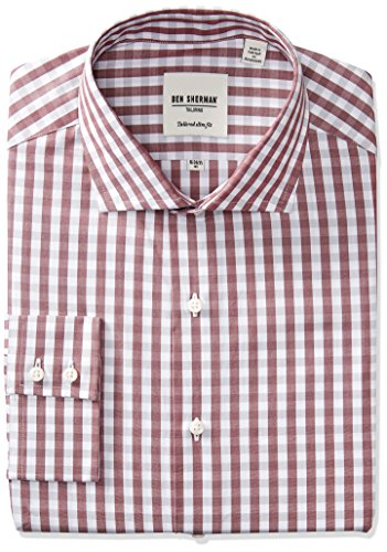 ben-sherman-mens-exploded-gingham-shirt-with-royal-spread-collar-wine-grey-165-neck-34-35-sleeve