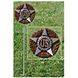 US Military Veteran Grave Marker - in Bronze Finished Aluminum