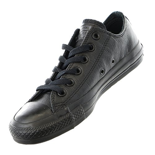pictures of CONVERSE Unisex Chuck Taylor All Star Ox Fashion Sneaker Leather Shoe - Black Mono - Mens - 6.5