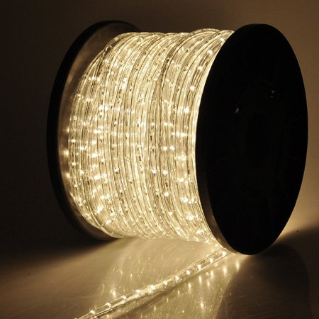 Holiday Lighting LED Rope Light Spool Warm White 150ft
