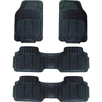 COUNTRYONE VAN SUV ALL WEATHER BLACK RUBBER FLOOR MATS 4-PCS 3-ROWS at Sears.com