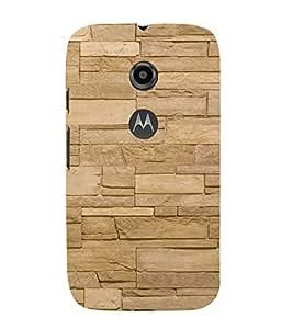 EPICCASE cream brick wall Mobile Back Case Cover For Moto E 2nd Generation (Designer Case)