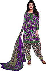 AMP IMPEX EthnicwearWomen's Dress Material(KOMALSPL6001_Purple_Free Size)