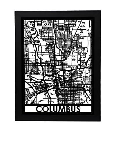 Cut Maps Columbus Framed 3-D Street Map
