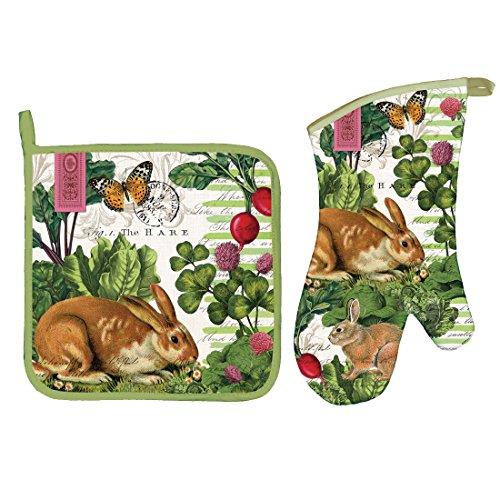 2 Items: Garden Bunny Oven