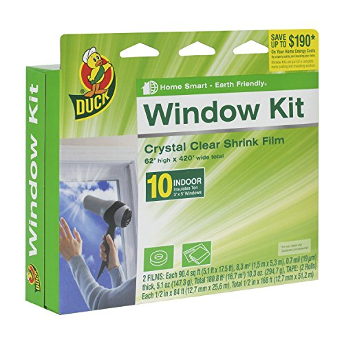 Duck Brand 281506 Indoor 10-Window Shrink Film Insulator Kit, 62-Inch x 420-Inch (Window Draft Seal compare prices)
