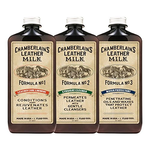 Leather Milk No. 1 - 3 Condition, Clean, & Water Protect Set: Liniment No. 1 | Cleaner No. 2 |