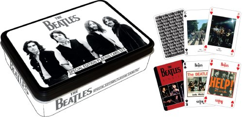 Beatles Black & White Playing Card Tin - 1