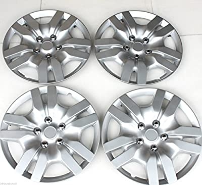 "New Nissan Altima 16"" Set Of 4 Silver Wheel Covers Hubcaps Hub Caps Replica Abs Plastic"