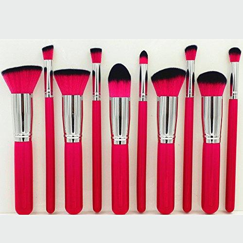 10pcs Kabuki Makeup Brush