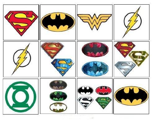 Dc comics justice league tattoos set of 15 batman for Wonder woman temporary tattoo