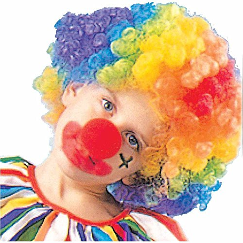 Rainbow Clown Kids Wig - One Size