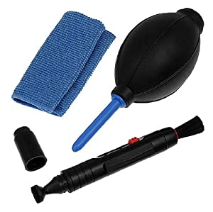 niceeshop(TM) 1Set(3Pcs) - Professional Lens Cleaning Kit/Set With Pen, Cloth, Air Blower For Cameras(Canon,Nikon,Pentax,Sony)