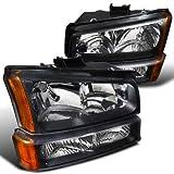Chevrolet Silverado Black Crystal Headlights, bumper lights